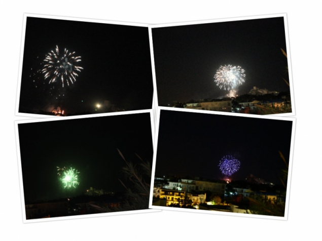Fireworks at the Sant'Anna Festival, IschiaPonte, Campagna/Italy