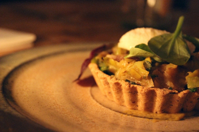 Vegetable tart from the Sauvage Restaurant in Berlin
