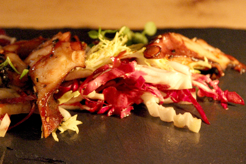 Grilled octopus from the Sauvage Restaurant in Berlin