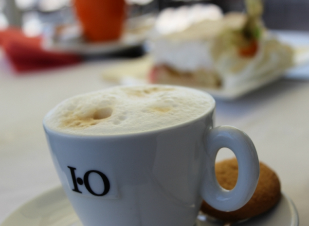 Cappuccino at the sails club Schwerin, Germany