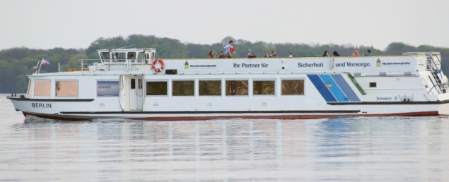 boat on the lake Schwerin