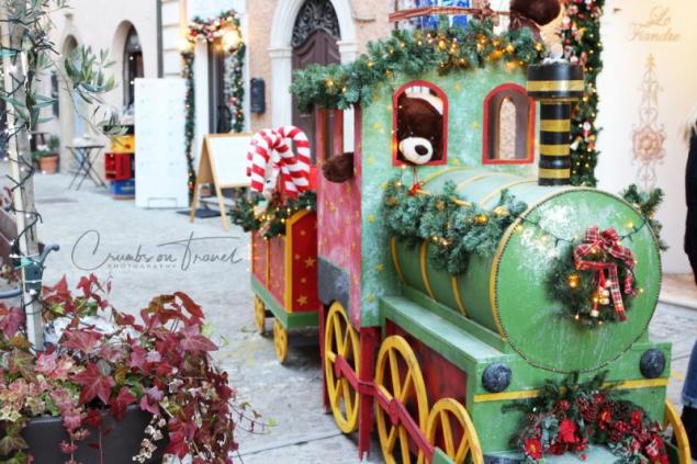 Xmas train in Senigallia, Le Marche/Italy