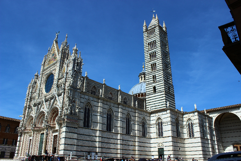 The cathedral of Siena, Tuscany, Italy