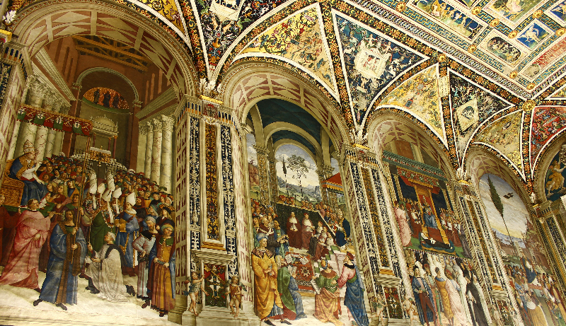 Inside the cathedral of Siena, Tuscany, Italy