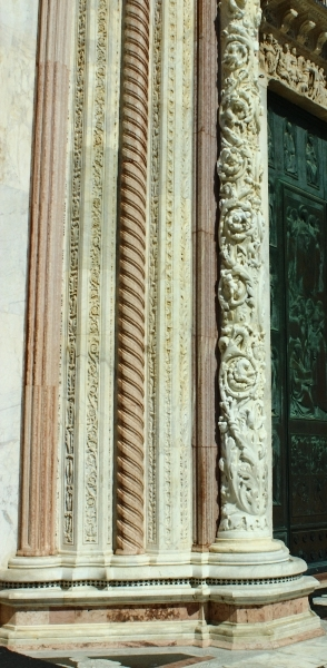 Details of the cathedral of Siena, Tuscany, Italy