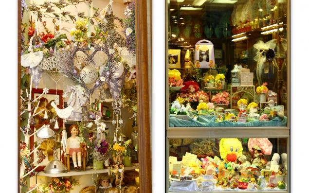 Shop decorations in Siena, Tuscany, Italy