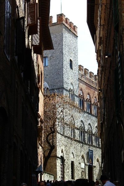 Street view in Siena, Tuscany, Italy