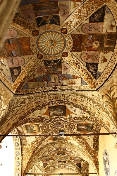 Ceiling in Siena, Tuscany, Italy