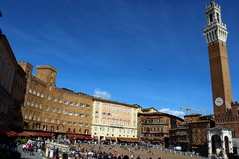 View of Piazza del Campo in Siena, Tuscany, Italy