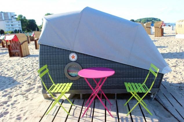 sleeper beach basket in Travemunde/Germany