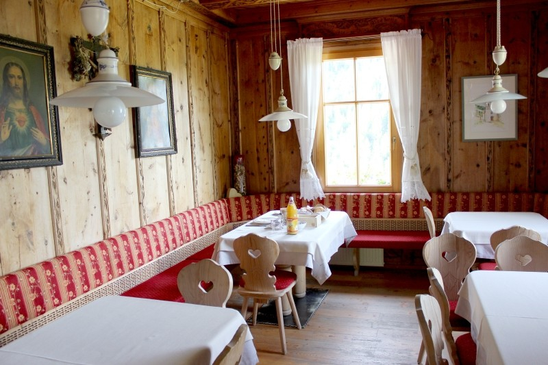 Dinning room in a hotel in South Tyrol/Italy