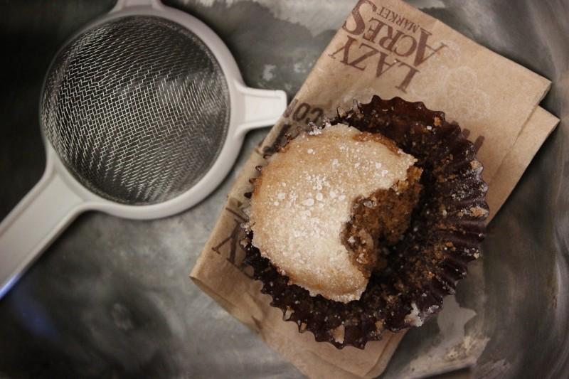 Spice cake muffin