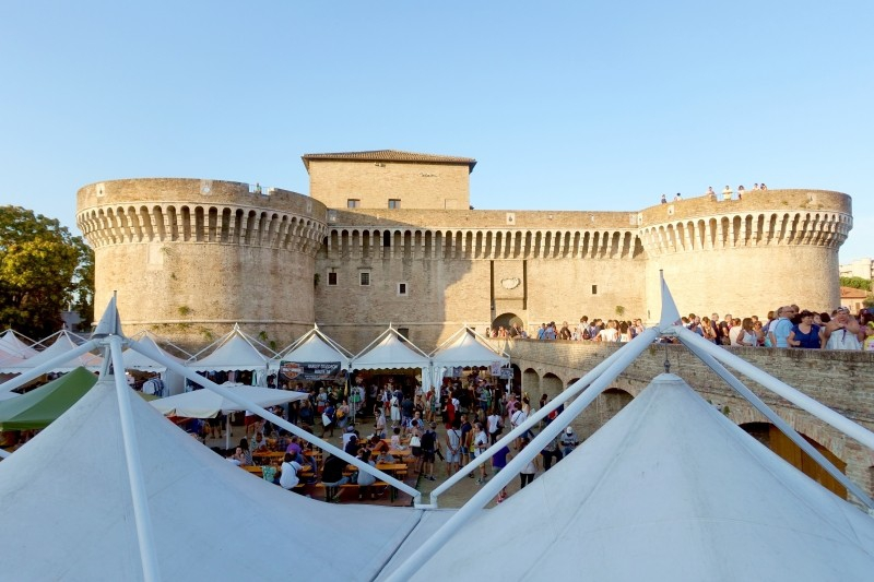 Castle at the Summer Jamboree in Senigallia, Le Marche/Italy