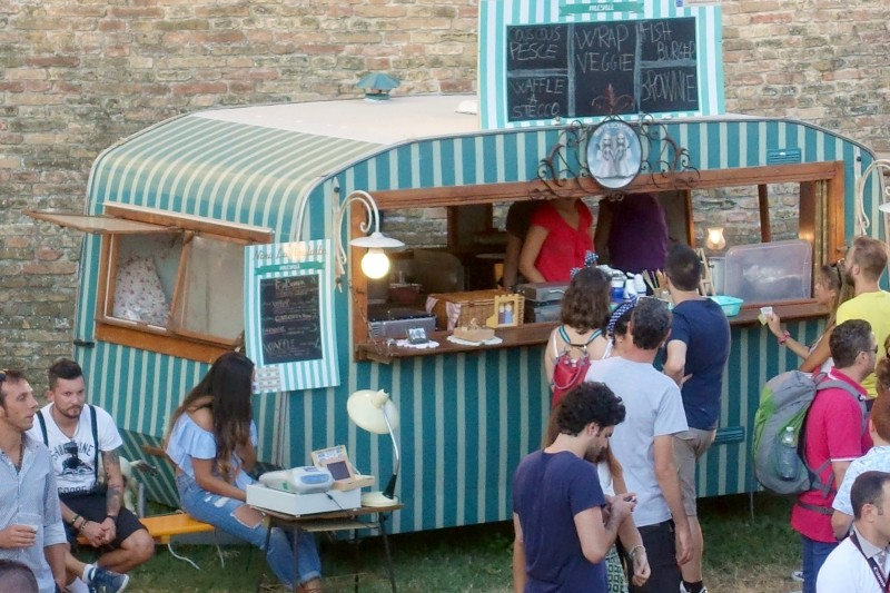 Sixties food truck at the Summer Jamboree in Senigallia, Le Marche/Italy