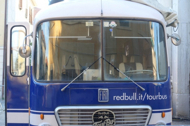 Red Bull Tour bus at the Summer Jamboree in Senigallia, Le Marche/Italy