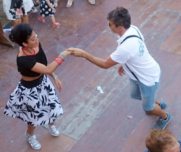 Dancing at the Summer Jamboree in Senigallia, Le Marche/Italy