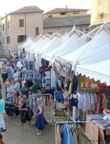 Stands at the Summer Jamboree in Senigallia, Le Marche/Italy