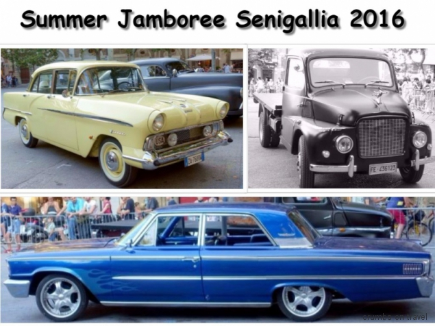 Old cars at the Summer Jamboree in Senigallia, Le Marche/Italy