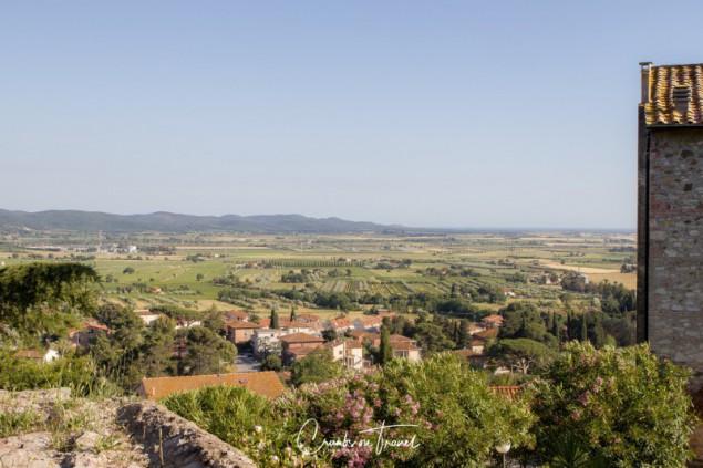 View from the Rocca Aldobrandesca in Suvereto towards the sea