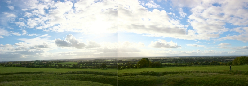 View from Hill of Tara, County Meath/Ireland