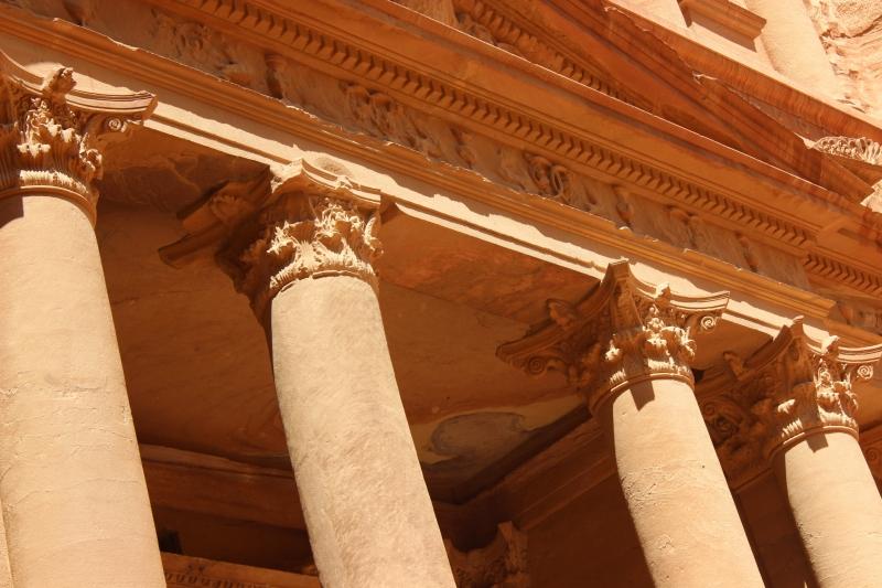Treasury columns, Petra, Jordan