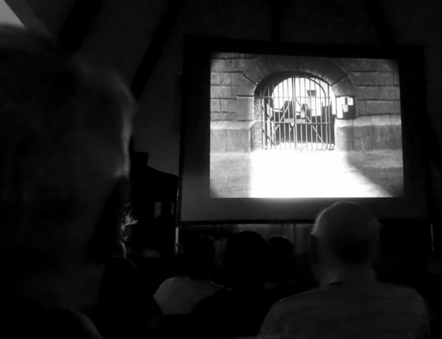Silent movie at Trinity Church, Spring Valley, San Diego, California/USA