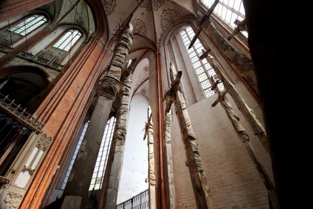 Crosses in the Marienkirche, Lübeck