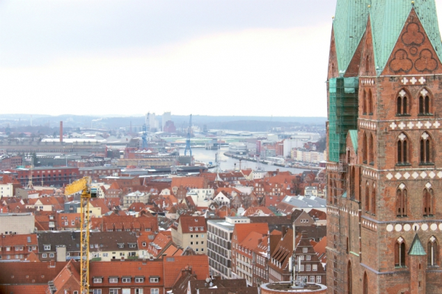 Lübeck seen from the Saint Peter's tower