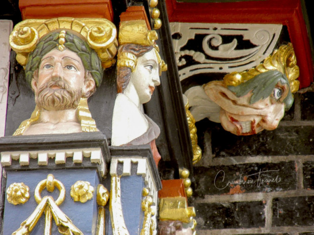 Details of the townhall in Lübeck