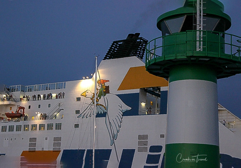Ferry detail and lighthouse