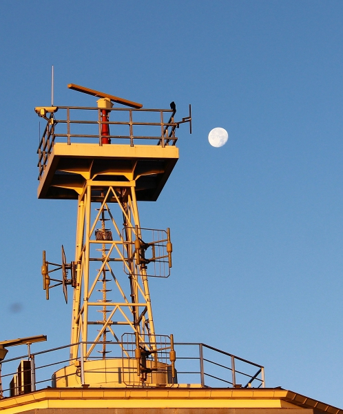 Morning moon in Travemunde, Germany