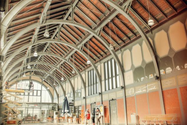 The old historical train station Travemünde Strand