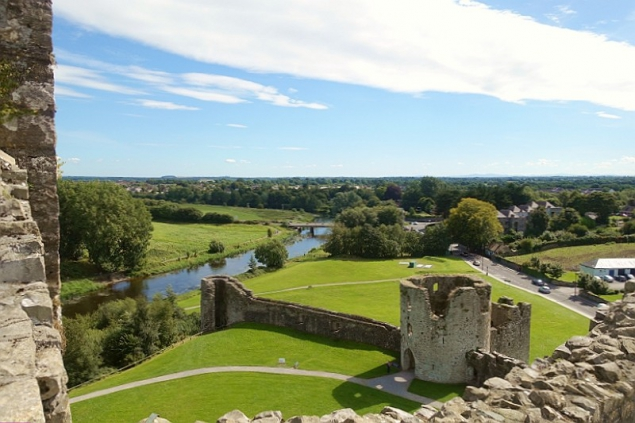 View from Trim Castle, Trim, Co Meath/Ireland
