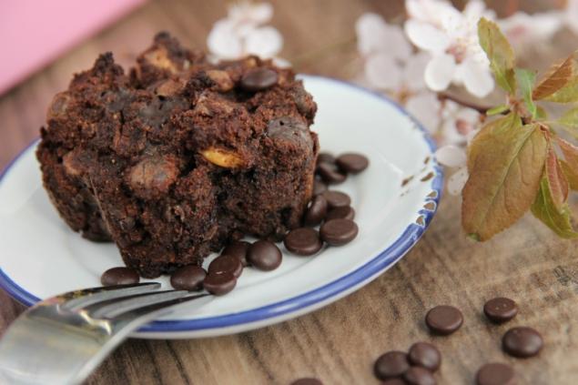 Yummy triple chocolate muffins