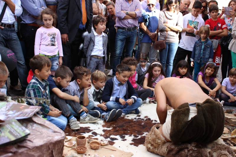 Truffle festival, paleo stand, Sant'Angelo in Vado, Le Marche, Italy