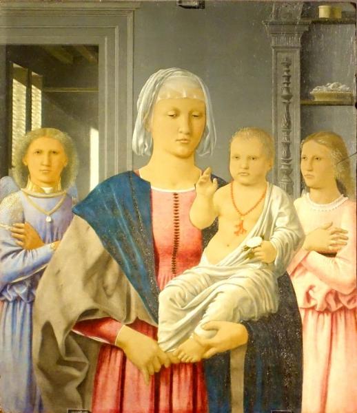 La Madonna di Senigallia, Pero della Francesca, Italien painyer, seen at the Palazzo Ducale of Urbino, Le Marche/Italy