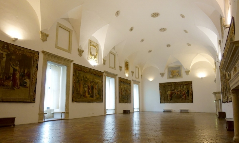 Inside the Palazzo Ducale of Urbino, Le Marche/Italy