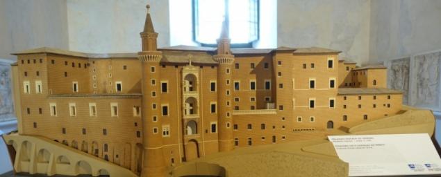 Model of the Palazzo Ducale of Urbino, Le Marche/Italy