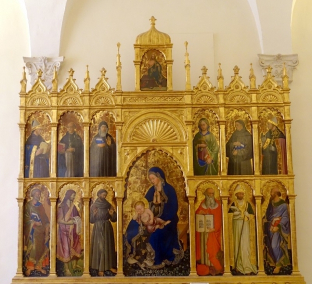 In the chapel of the Palazzo Ducale of Urbino, Le Marche/Italy