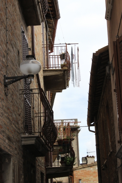 Street view of Urbino, Le Marche/Italy