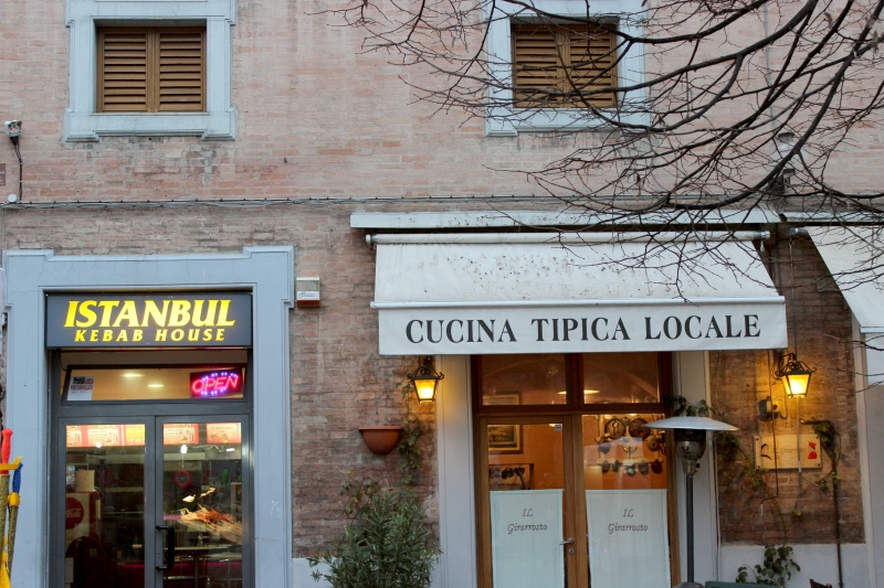 Eating out in Urbino, Le Marche/Italy