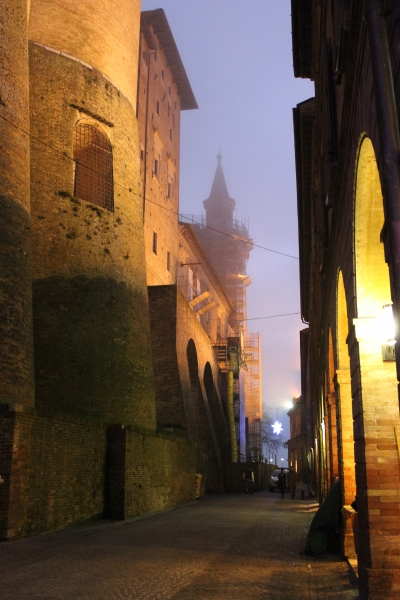 Urbino by night, Le Marche/Italy