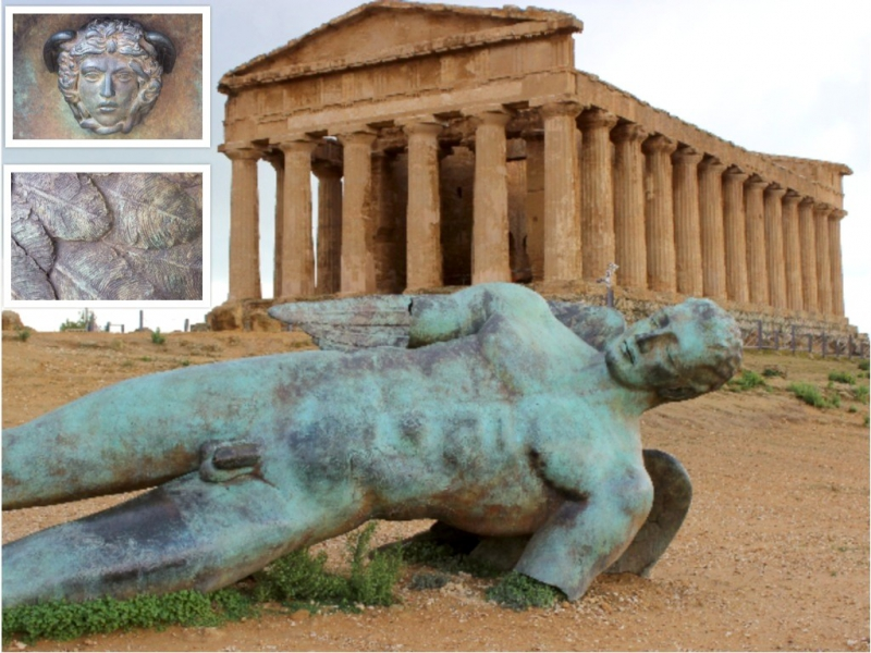'The Fallen Ikarus' by Igor Mitoraj, Valley of the Temples, Sicily/Italy