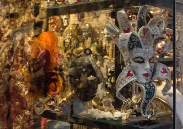 Masks in Venice, Italy