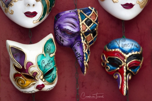Different masks in Venice, Italy