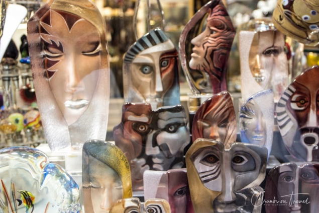 Glass masks in Venice, Italy