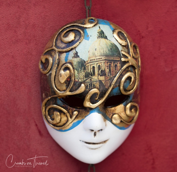Volto mask seen in Venice, Italy