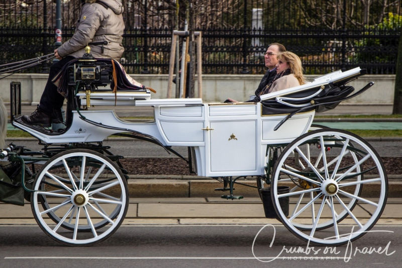 Fiaker (horse carriage) on Ringstrasse, Vienna/Austria