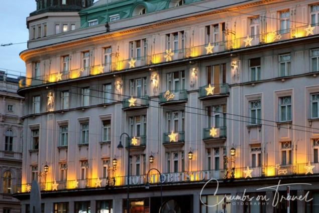 Christmas decoration at a hotel, Vienna/Austria
