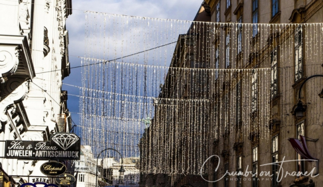 Christmas lights at the Kohlmarkt, Vienna/Austria